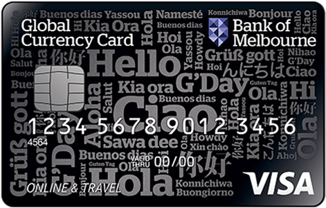 Bank of Melbourne travel money card