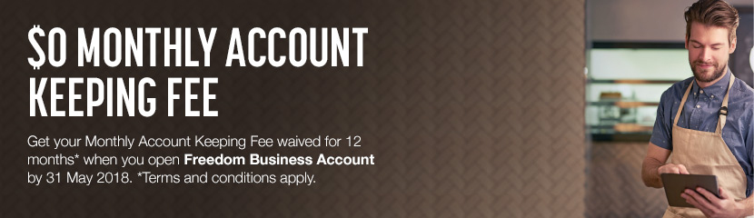 Monthly Account Keeping Fee waived for 12 months. Conditions apply. Find out more.