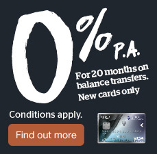0% for 20 months on balance transfers. Find out more.