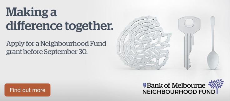Making a difference together. Apply for a Neighbourhood Fund grant before September 30. Find out more.